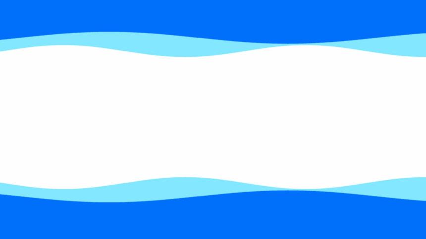 青いなみなみフレーム