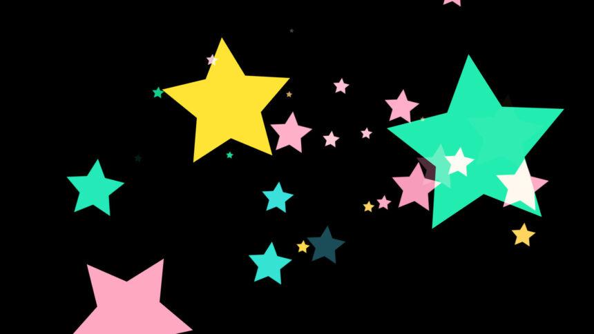 流れる星の合成素材